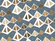 Retro bruine piramides royalty-vrije illustratie