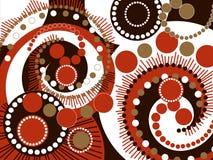 Retro bruine spiraalvormige punten stock illustratie