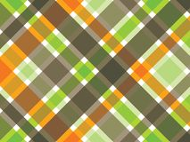 retro brun grön orange pläd Arkivfoton