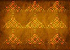 Retro brun julgranbakgrund Arkivfoton