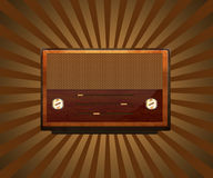 retro brun radio royaltyfri illustrationer