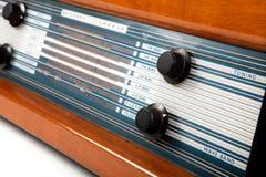 retro brun radio Royaltyfri Bild