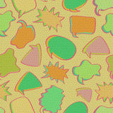 Retro Bubble Chat Seamless Pattern. Royalty Free Stock Photo