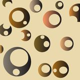 Retro bubbles background Stock Photos