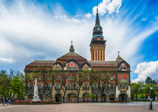 Retro budynek urząd miasta w Subotica mieście, Serbia Zdjęcia Royalty Free