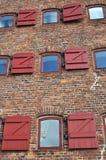 Retro building with windows. Urban retro building facade with windows Stock Photography