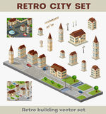 Retro buildings Royalty Free Stock Images