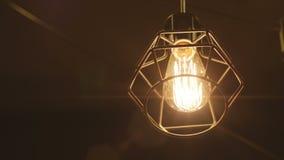 Retro Bulb Lighting 01 stock video footage
