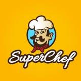 Retro- bunte Hand gezeichneter Chef Lizenzfreies Stockfoto