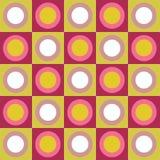 Retro- bunte Kreise und Quadratcollage stock abbildung