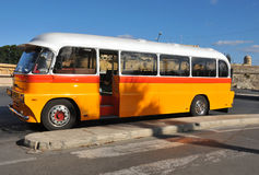 Retro bus. An old fashioned bus as used in Valetta, Malta Stock Photo
