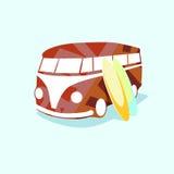 Retro bus Stock Illustratie