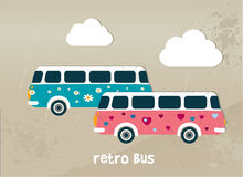 Retro bus concept. Stock Photo