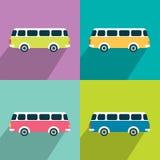Retro bus concept paper vintage card. Royalty Free Stock Image
