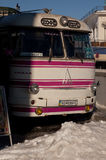 Retro-bus. Retro bus fo drinking coffe Royalty Free Stock Photo