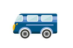 Retro bus, holiday van. Cartoon illustration. Stock Images