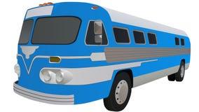 Retro Bus Illustration Royalty Free Stock Photo