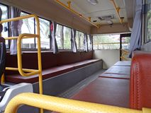 Retro bus inside Royalty Free Stock Images