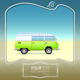 Retro bus with surf boards Stock Photography