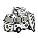 Retro bus van de Reis Royalty-vrije Stock Afbeeldingen
