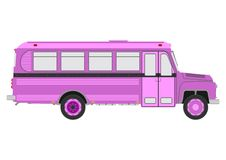 Retro bus on a white background Royalty Free Stock Photos