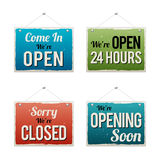 Retro Business Open Sign Stock Photos