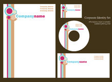 Retro business template. Series.  More templates in my portfolio Royalty Free Stock Photos