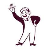 Retro businessman Royalty Free Stock Image