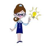 Retro businesswoman Stock Photography