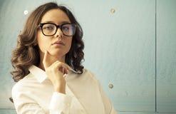 Retro Businesswoman royalty free stock image