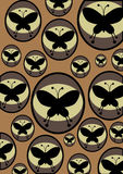 Retro butterflies Royalty Free Stock Photo