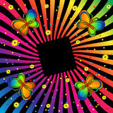 Retro Butterfly Background Royalty Free Stock Photo