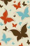 Retro butterfly background Royalty Free Stock Photos