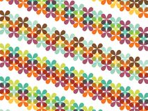 Retro Butterfly Floral Stripes Royalty Free Stock Photos