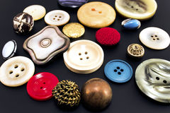 Retro buttons on a black background Royalty Free Stock Photography