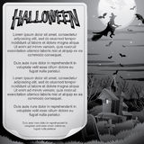 Retro BW Halloween Poster. Ready for Design Royalty Free Stock Photography