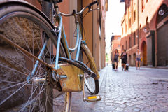 Retro bycicle on old Italian street. Stock Images