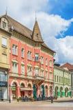 Retro byggnad i den Subotica staden, Serbien Royaltyfria Bilder
