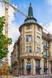 Retro byggnad i den Subotica staden, Serbien Royaltyfri Fotografi