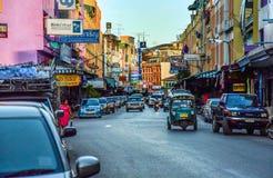 Retro byggnad på den kinesiska gatan Fotografering för Bildbyråer
