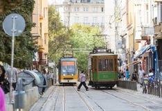 Retro cable tram car Stock Images