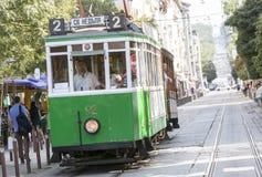 Retro cable tram car Stock Photos