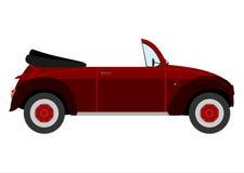Retro cabriolet. vector illustratie