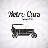 Retro cabriolet car, vintage collection Royalty Free Stock Photos