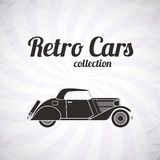 Retro cabriolet car, vintage collection Stock Image