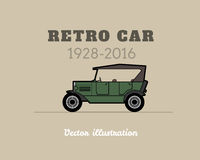 Retro cabriolet car, vintage collection Royalty Free Stock Image