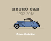 Retro cabriolet car, vintage collection Stock Image