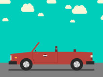 Retro cabriolet, side view Stock Images
