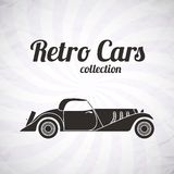 Retro cabriolet sport car, vintage collection Royalty Free Stock Photography