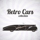Retro cabriolet sport car, vintage collection Royalty Free Stock Photos